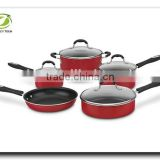 Aluminum Press Non-stick Cookware set with Glass Lid Frying Pan Saucepot Pan Stock pot Pan and Pot with Lids