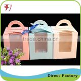 Kraft paper cake boxes with window
