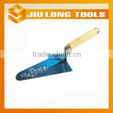 hand tools blue steel carbon steel bricklayer trowel with wood handle