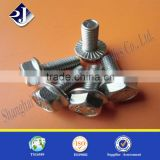All thread hex flange bolt High strength grade 10.9 hex flange bolt Flange bolt with zinc