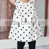 Cute black white Polka Dots girl dress kids dress baby dress