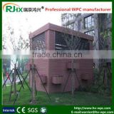 Plastic garden shet/greenhouse steel structure with wpc material wall panel widely used in outdoor garden decration
