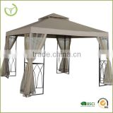 XY-CG-14016 Hot sale 3*3m gazebo with mosquito net canopy tent leg with 2 corner shelves