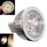 4 * 1W GU5.3 MR16 12V Warm White LED Light Lamp Bulb Spotlight 400-440LM Led Spot Light Ultra-bright Led Lighting lamp