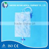 Popular economic adult urine collection bag with cross valve