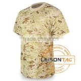 Digital Camouflage T-shirt adopts lightweight and breathable mesh being suitable for hot areas