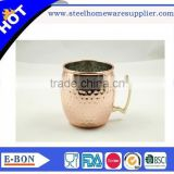 High quality standard Hammer moscow mule solid copper mugs                                                                         Quality Choice