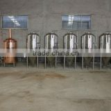 1000L beer brewing equipment, conical fermenter,used at bar, restaurant, made by red copper, SS material