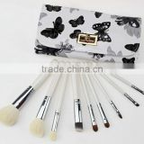 2015 new product 9 high quality beautiful makeup brush set with wooden handle