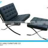 High Quality Modern Leather Barcelona chair with ottoman,barcelona sofa (XX824)