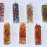 Orgone Pipe Chakra Pendant Set | Orgone Sets-Orgonite Sets | Orgone-Orgonite-Orgone Energy Pendant