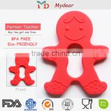 FDA Approved Innovative Product food grade ABC baby gift set food grade silicone baby teether