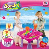 Funny Girls Summer Outdoor Game Toy Sand And Water Table In Pink With 15 pcs of Accessories Kids Sandbox