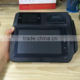 wireless 7' android rfid pos with barcode reader/finger printer/card reader/bluetooth pos terminal