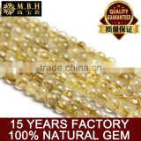 Hot natural blond beads of semi-finished products are crystal beads DIY titanium crystal bracelets handmade jewelry wholesale