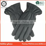 Top Quality Deer Leather Men's Cashmere Lined Three Points and Elastic Deerskin Leather Gloves