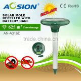 Aosion solar gopher repellent drives away the underground rodents(moles,voles) with powerful sonic