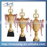 high grade base wooden 3D gold zinc alloy award basketball cup trophy
