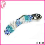 Plastic Hair Stick light rhinestone Banana Hair Clip For Beautiful Ladies factory in china