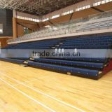 sport facility telescopic tribune telescopic folding plastic seating flex grandstand. portable bleacher