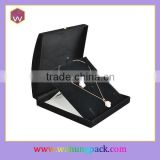 Fancy Black Plastic Jewelry Gift Box For Necklace/Pendant Wholesale & Custom Necklace Package Box