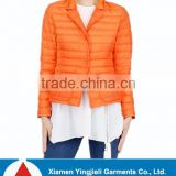 Lady's classic fashion down jacket extra thin short style with quilted design white New Arrival down jacket