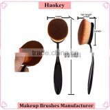 2016 NEW Stylish Oval Toothbrush Shaped Makeup Brush Sets Eyebrow Foundation Brush Face Eyeliner Lip Oval Cream Puff Brushes