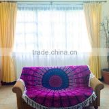 Purple Tassel Mandala Roundie Indian Tapestry Bohemian Hippie Round Roundie Mandala Tapestry Wholesaler Home Decor Table Cover