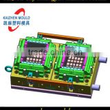 2 cavity plastic injection crate mould