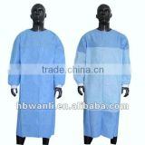Non woven coated/reinforced Isolation/surgical/surgeon gown with steriled (CE, FDA, ISO13485)