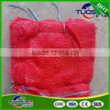 45*55, 16g/pc dark orange red raschel mash bags for onion and potato to Algeria