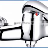 Classic lavatory single zinc handle brass body shower tray faucet chrome plating wall mounted shower tray mixer
