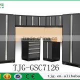 TJG-GSC7126 Metal Garage Storage Shelves Organization Systems Professional Designer With Charcoal Gray Doors