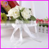 Wholesale Princess style wedding flower heads mini silk rose bouquet