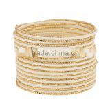 Wholesale Fashion Wide Multicolor Bracelet High Quality Zinc Alloy and Gold Plated Bangle for Women Party Accessories