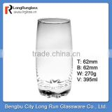LongRun 13oz crystal clear long glass water cup&milk glass cup&fruits drinks glassware wholesale
