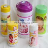 baby cloth wipes, canister/tube/can pack