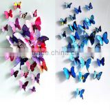 12Pcs 3D Butterfly Wall Sticker / Fridge Magnet Home Decor / removable butterfly wall stickers home decor