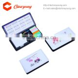 Multi-function Branding Desk Sticky Note with Calendar in PU leather Case