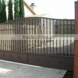 Factory sale metal garden arch with gate, iron gate, home gate arch design on alibaba online shopping