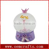 Purple Ballet Dancer In Photo Snow Globe For Sale