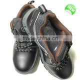 water proof safety shoes with genuine leather and pu sole