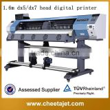 1.6 meter multifunction dx5 head eco solvent inkjet printer for pvc vinyl sticker flex banner light film wallpaper poster