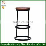 2015 modern round wooden seat counter stool