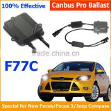 Hot sell jeep compass canbus xenon kit jeep compass canbus car light 12V 35W canbus slim digital ballast