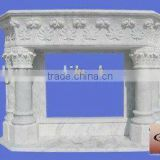 White Marble Fireplace Mantel With Columns
