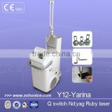 Laser Tattoo Removal Equipment Y12 Cheap Price !!! Vertical ND Yag Tattoo Removal Laser Machine 1500mj