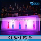 pe material rgb color LED wine cabinet,led lighted bar ice bin displays