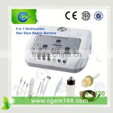 CG-1320 5 in 1 high frequency ultrasonic galvanic facial machine for salon use facial treatment