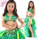 Sexy Kids Skirt and Bra Set Girl Sexy Stage Performance Belly Dance Costumes